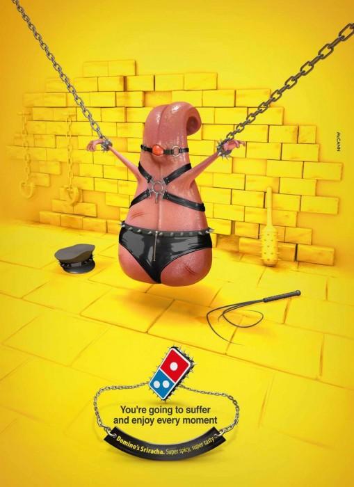 bad dominos ad campaign